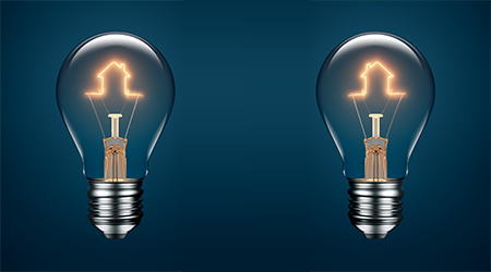decorative image of two lightbulbs